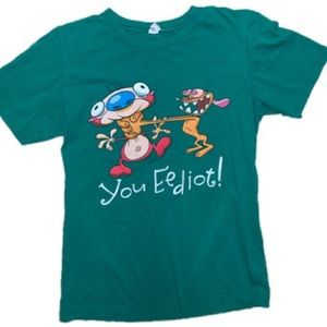 Tops - Ren and Stimpy Idiot shirt Size Small